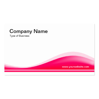 Wave Contour - Neon Red Double-Sided Standard Business Cards (Pack Of 100)