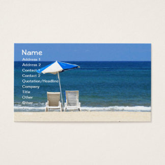 Wave Cool Beach Chairs Fine Art Business Card