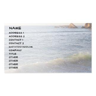 Wave, Côte des Basques Business Card Template