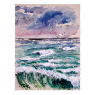 Wave Crash Postcard