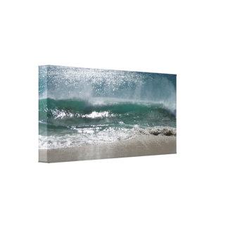 wave crashing ashore canvas print