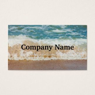 Wave Crashing On The Shore, Sea Photograph Business Card