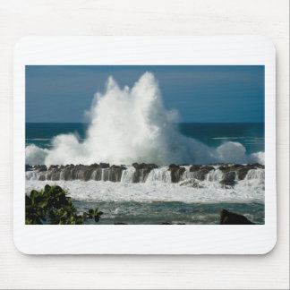Wave Crashing over Shark's Cove Mouse Pad