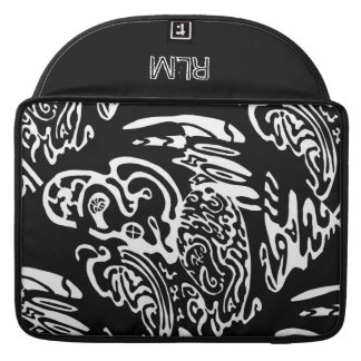 """""""Wave Creature"""" B&W abstract Art Sleeve For MacBook Pro"""