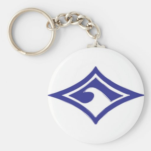 Wave Diamond Brushed Keychain