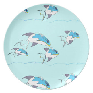 Wave Fish Plates Party Plates