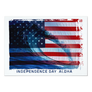 Wave Flag USA Patriotic Party Invitations