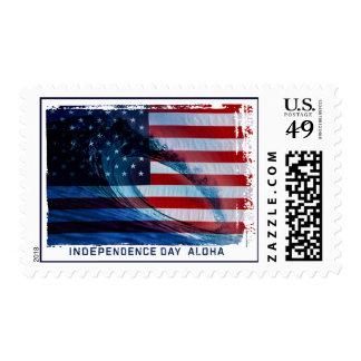 Wave Flag USA Tropical Surf Postage