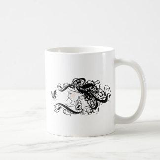 Wave flower girl mug