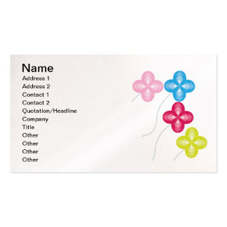 wave-flowers-bunch, Name, Address 1, Address 2,... Business Card