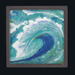 """Wave Gift Box<br><div class=""""desc"""">Acrylic wave in bold blues with thick texture</div>"""