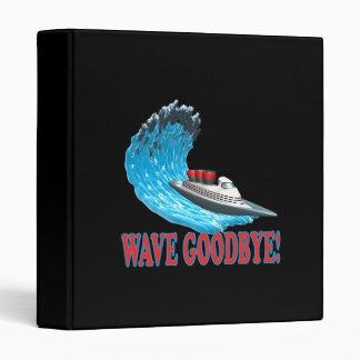 Wave Goodbye 3 Ring Binder