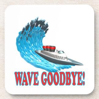 Wave Goodbye Drink Coasters