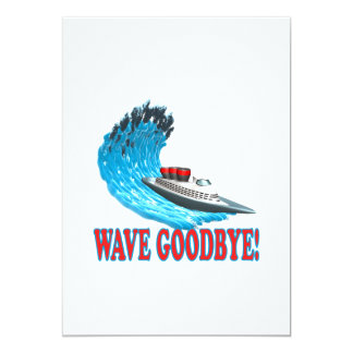 Wave Goodbye 5x7 Paper Invitation Card