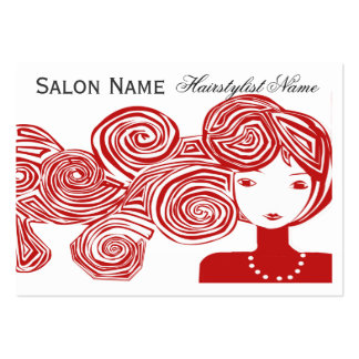 Wave Hair Fantasy Large Business Card