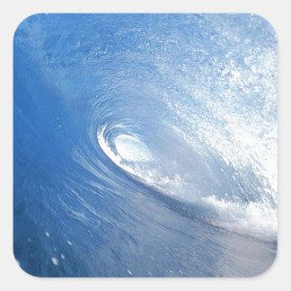 wave.jpg square sticker