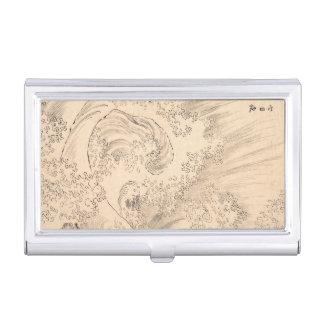 Wave Katsushika Hokusai vintage waterscape art Business Card Holders