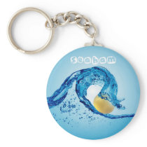 Wave Keyring 2 - Gold