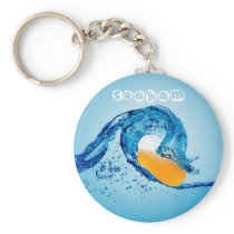 Wave Keyring 4 - Orange
