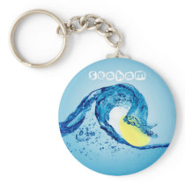wave keyring 6 - Lemon Drop