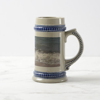 Wave Lapping at Beach Beer Stein