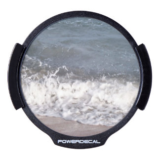 Wave Lapping at Beach LED Window Decal