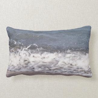 Wave Lapping at Beach Lumbar Pillow