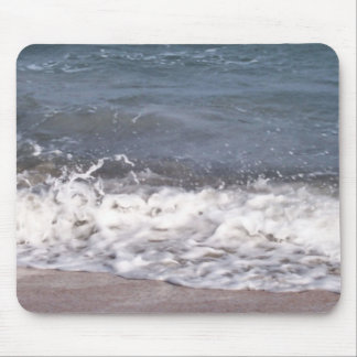 Wave Lapping at Beach Mouse Pad
