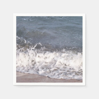 Wave Lapping at Beach Paper Napkin