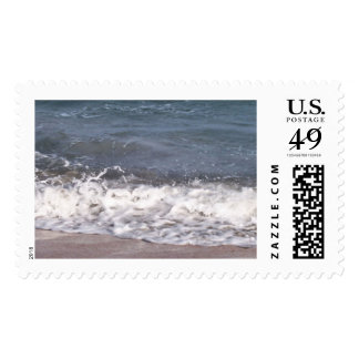 Wave Lapping at Beach Postage Stamps