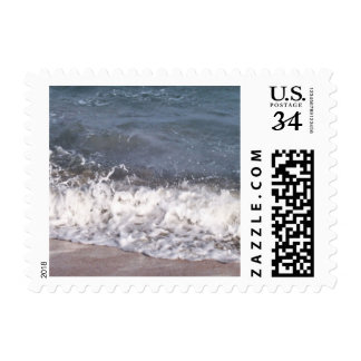 Wave Lapping at Beach Stamp