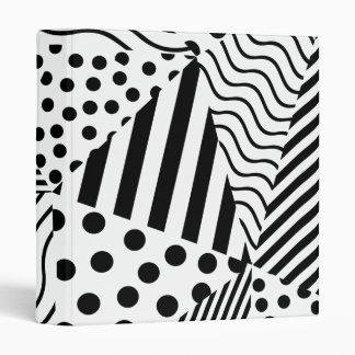 Wave, line and dots modern geometric triangle patt binder