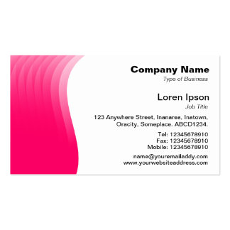 Wave Margin - Neon Red Double-Sided Standard Business Cards (Pack Of 100)