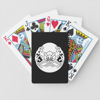 Wave moon rabbit bicycle playing cards