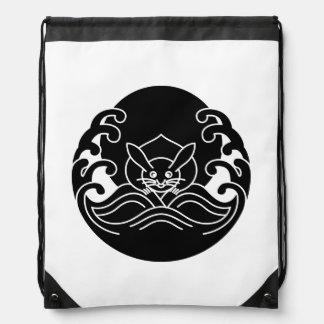 Wave moon rabbit drawstring bag