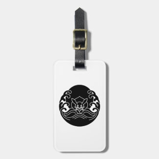 Wave moon rabbit tag for bags