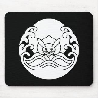 Wave moon rabbit mouse pad