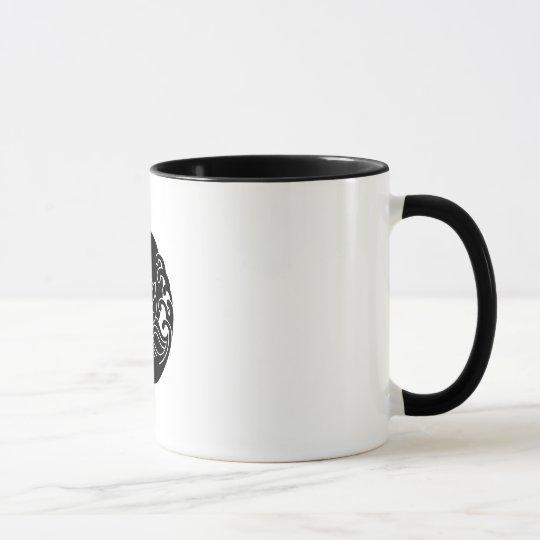 Wave moon rabbit mug