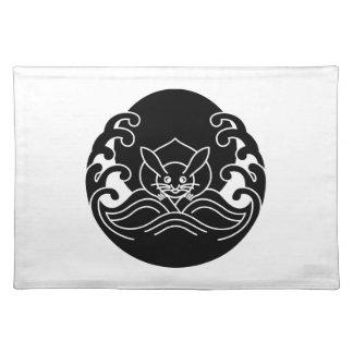 Wave moon rabbit place mat
