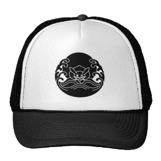 Wave moon rabbit trucker hat