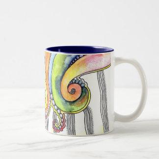 Wave Mug with Original Watercolor Artwork