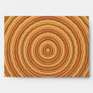 Wave Multiple Golden Circles  - Graphic Design Envelope