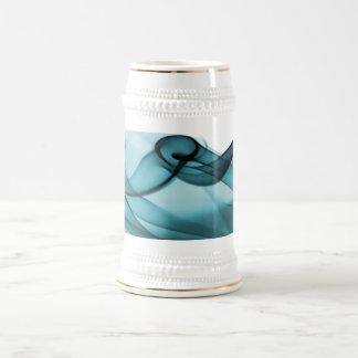 Wave of Blue Beer Stein