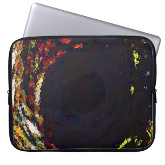 Wave of Color Abstract Accent Dark Electronics Bag