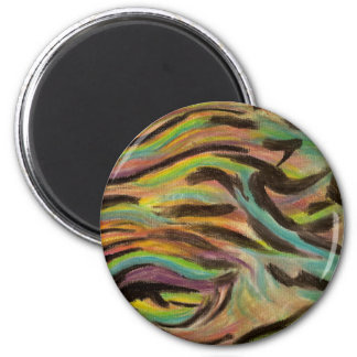 wave of colors 2 inch round magnet