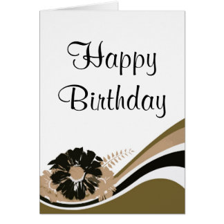 Wave of flowers, Happy Birthday - Customize Card