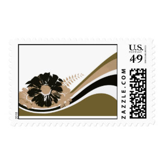 Wave of flowers postage