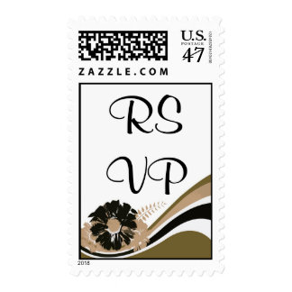 Wave of flowers - RSVP - Customize Postage