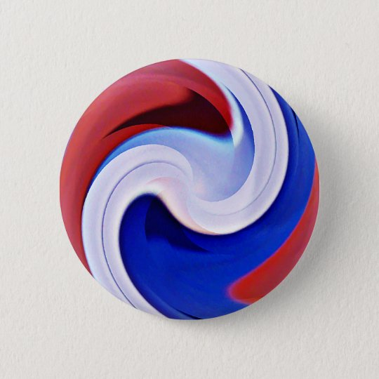 Wave of life,Red,White&Blue_ Button