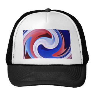 Wave of life,Red,White&Blue_ Trucker Hats